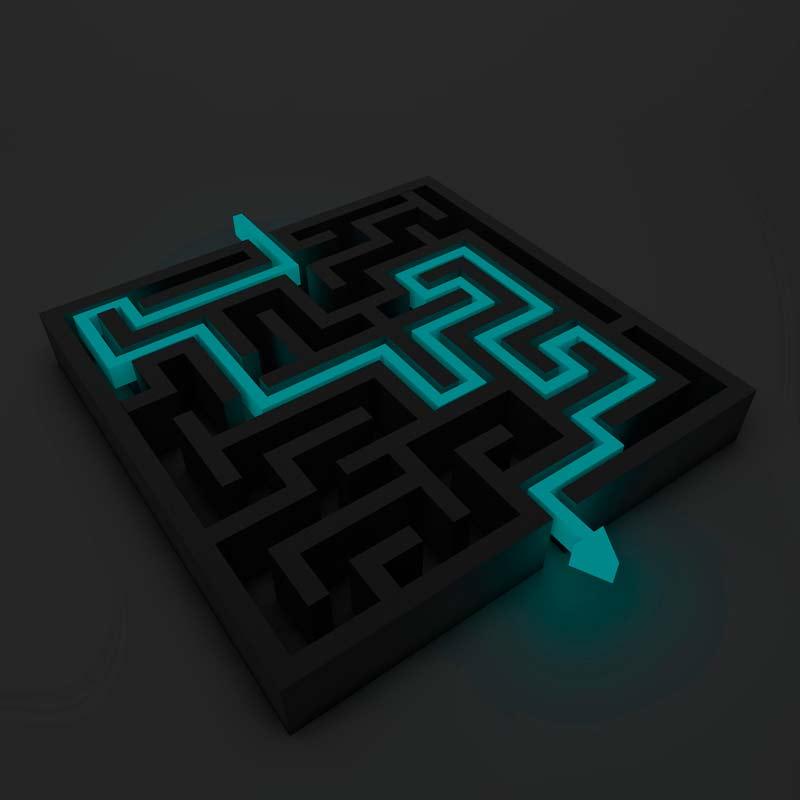 Saída do labirinto representa objetividade nas redes sociais