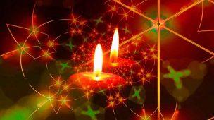 Velas de Natal simbolizando os votos de Daniel Bizon