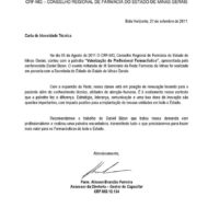 Recomendação Conselho Regional de Farmácia de Minas Gerais Palestrante Daniel Bizon
