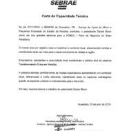 Recomendação SEBRAE Paraíba Palestrante Daniel Bizon
