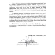 Recomendação SEBRAE Poços de Caldas Palestrante Daniel Bizon