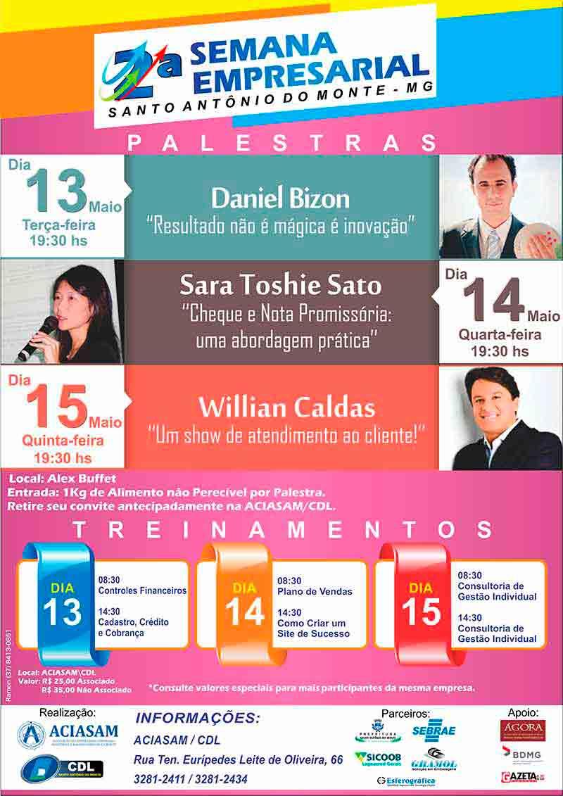 Palestra com Daniel Bizon na Semana Empresarial Samonte
