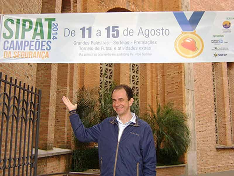 Palestrante Daniel Bizon na Sipat do Santuário Nacional