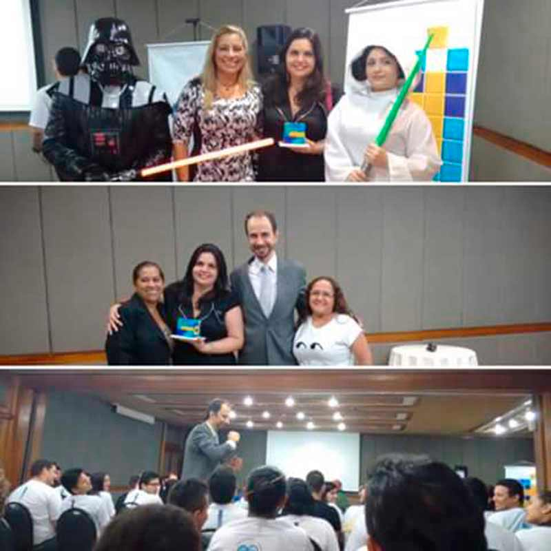 Daniel Bizon e participantes do Desafio Universitário Sebrae