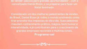 Divulgação palestra Daniel Bizon Shopping Mueller Joinville