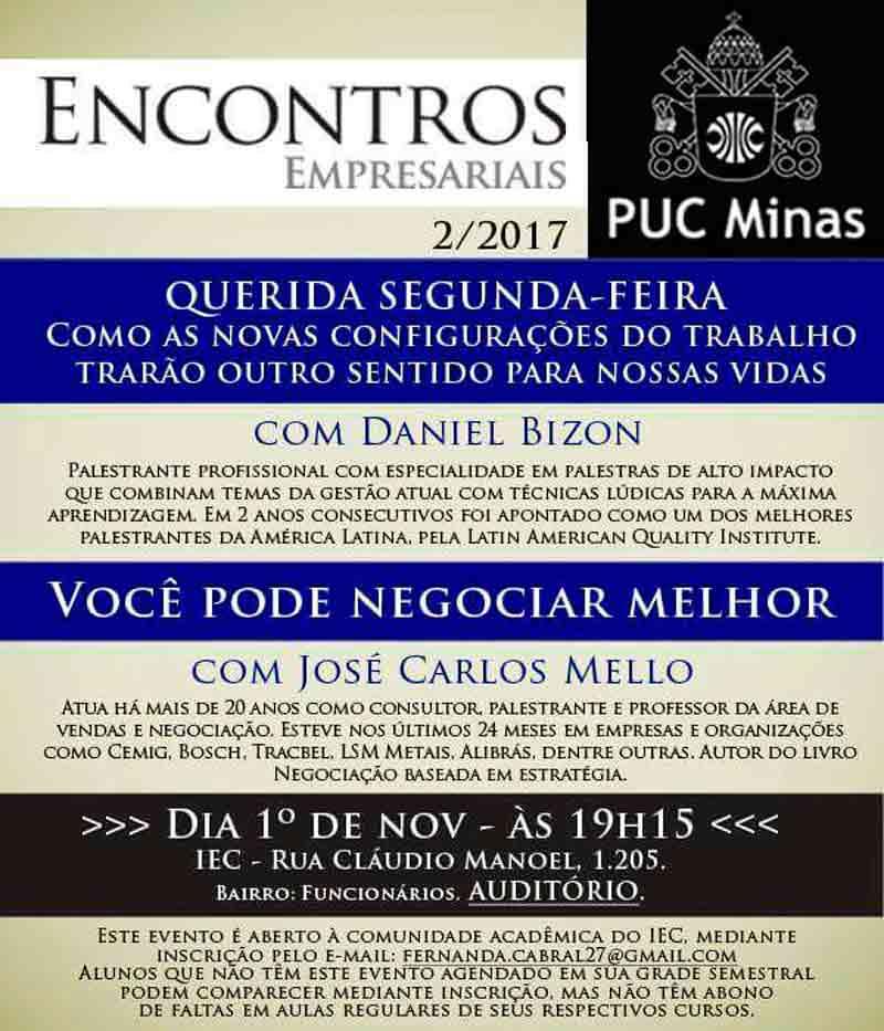 Palestra com Daniel Bizon na PUC Minas