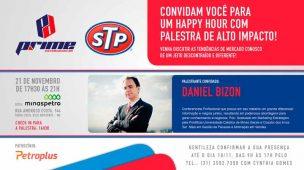 Convite para a palestra/Happy Hour da Prime Distribuidora com Daniel Bizon