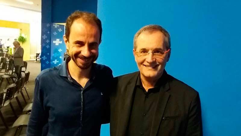 Daniel Bizon e Walter Longo foram palestrantes da Feira do Empreendedor