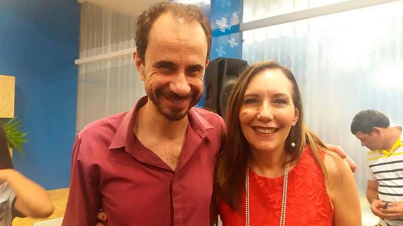 Palestrante Daniel Bizon com Martha Gabriel