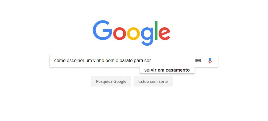 Busca do Google para entender como vender serviços